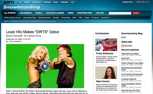 louie dwts debut article on the espn go com website